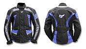 Bunda Style 012 černo/šedo/modrá