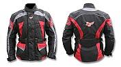 Bunda Style 012 černo/šedo/červená