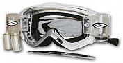 Smith brýle Intake Sweat - X, Racer Pack, F. A. T. 3- s rolnami, děrované sklo, bílo/stříbrná